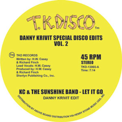 KC & The Sunshine Band/ Gwen McCrae / Danny Krivit Special Disco Edits Vo.2