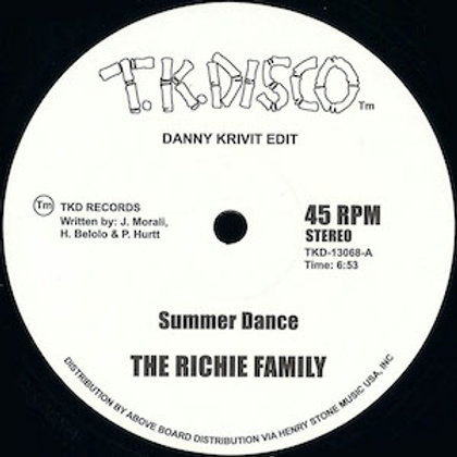 The Richie Family/Wild Honey / Summer Dance c/w At The Top Of The Stairs (Danny