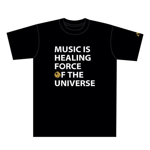 Especial Records / MUSIC Tシャツ (ブラック x オレンジ)