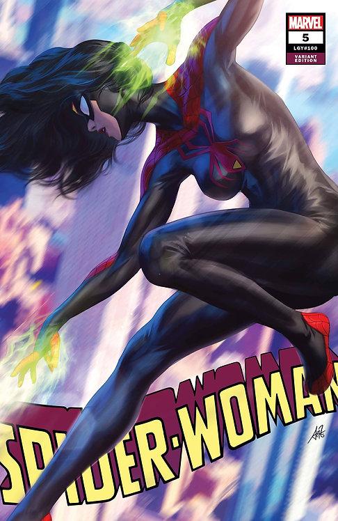 SPIDER-WOMAN #5 ARTGERM BLACK COSTUME VAR