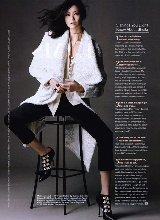 The Singapore Women's Weekly ft Sheila Sim沈琳宸