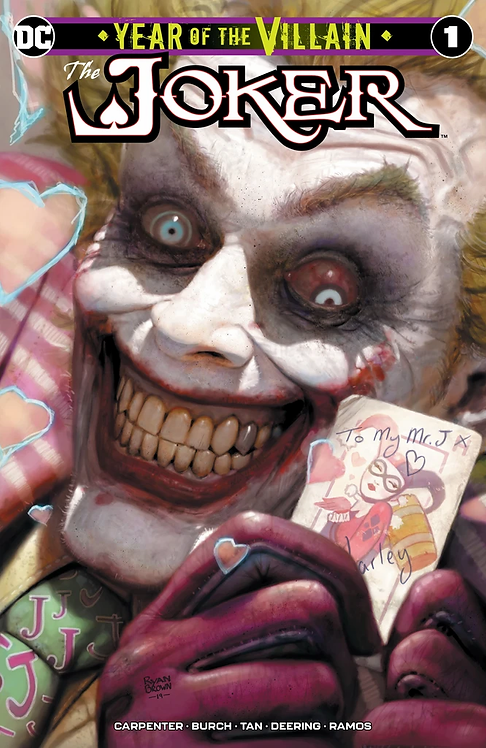 JOKER YEAR OF THE VILLIAN #1RYAN BROWN EXCLUSIVE