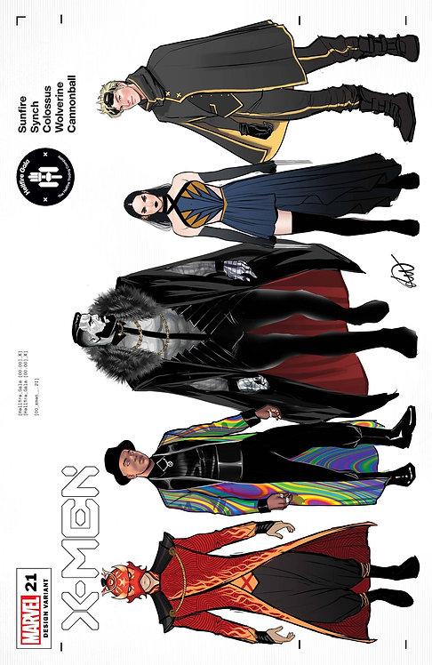 X-MEN #21 WERNECK CHARACTER DESIGN VAR