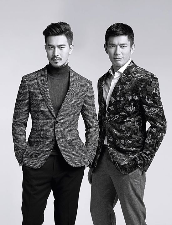ELLE NOV 2015 featuring Pierre Png 方展发 and Elvin Ng