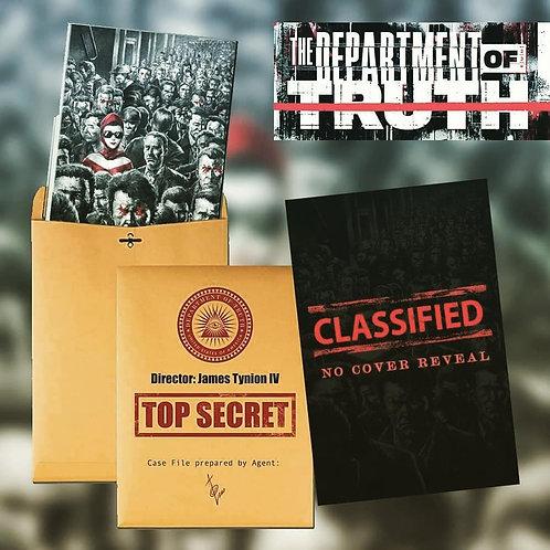 DEPARTMENT OF TRUTH #1 ALAN QUAH TOP SECRET FOIL VARIANT SET - LIMITED TO 100