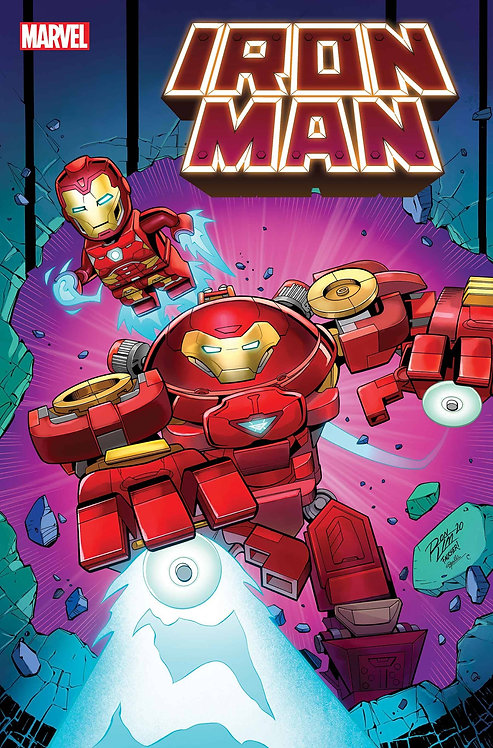 IRON MAN #4 RON LIM LEGO VAR
