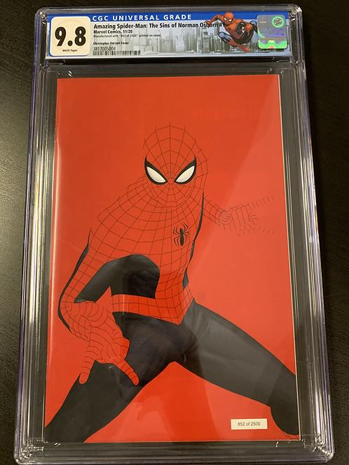 AMAZING SPIDER-MAN: THE SINS OF NORMAN OSBORN #1 CGC 9.8 JTC NYCC EXCLUSIVE