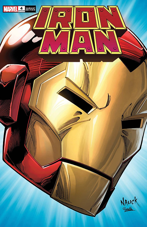 IRON MAN #4 NAUCK HEADSHOT VAR