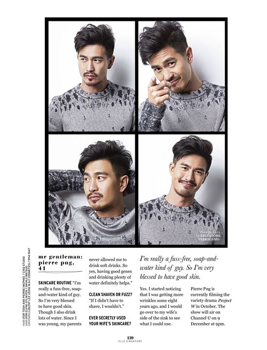 ELLE NOV 2015 Featuring Pierre Png