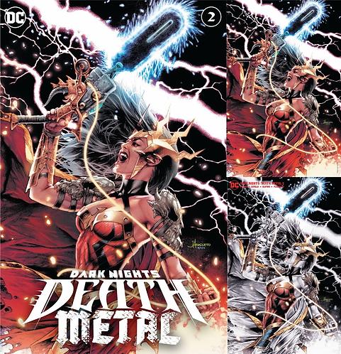 DARK NIGHTS DEATH METAL #2 JAY ANACLETO EXCLUSIVE 3 PACK (07/14/2020)