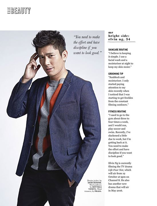 ELLE NOV 2015 Featuring Elvin Ng