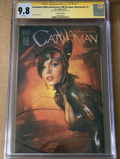 CATWOMAN 80TH ANNIVERSARY CGC SS 9.8 SHANNON MAER EXCLUSIVE