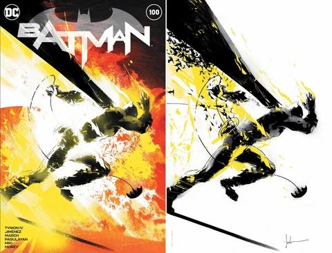 """BATMAN #100 JOCK """"NYCC 2020"""" EXCLUSIVE - LTD 2500 (TRADE/VIRGIN)"""