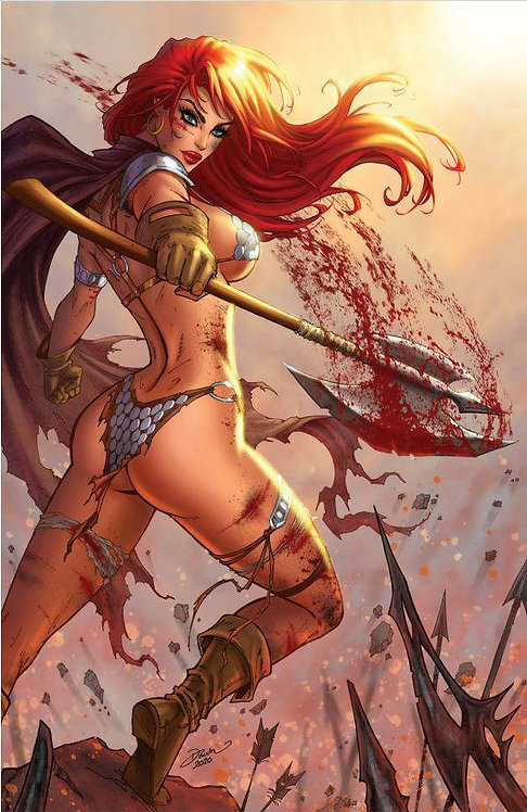 RED SONJA #19 DAWN MCTEIGUE EXCLUSIVE - LTD TO 500