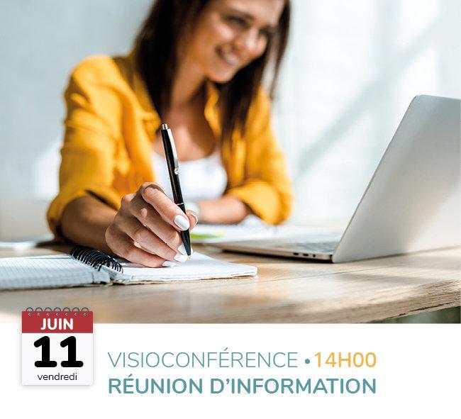 Visioconférence réunion d'information