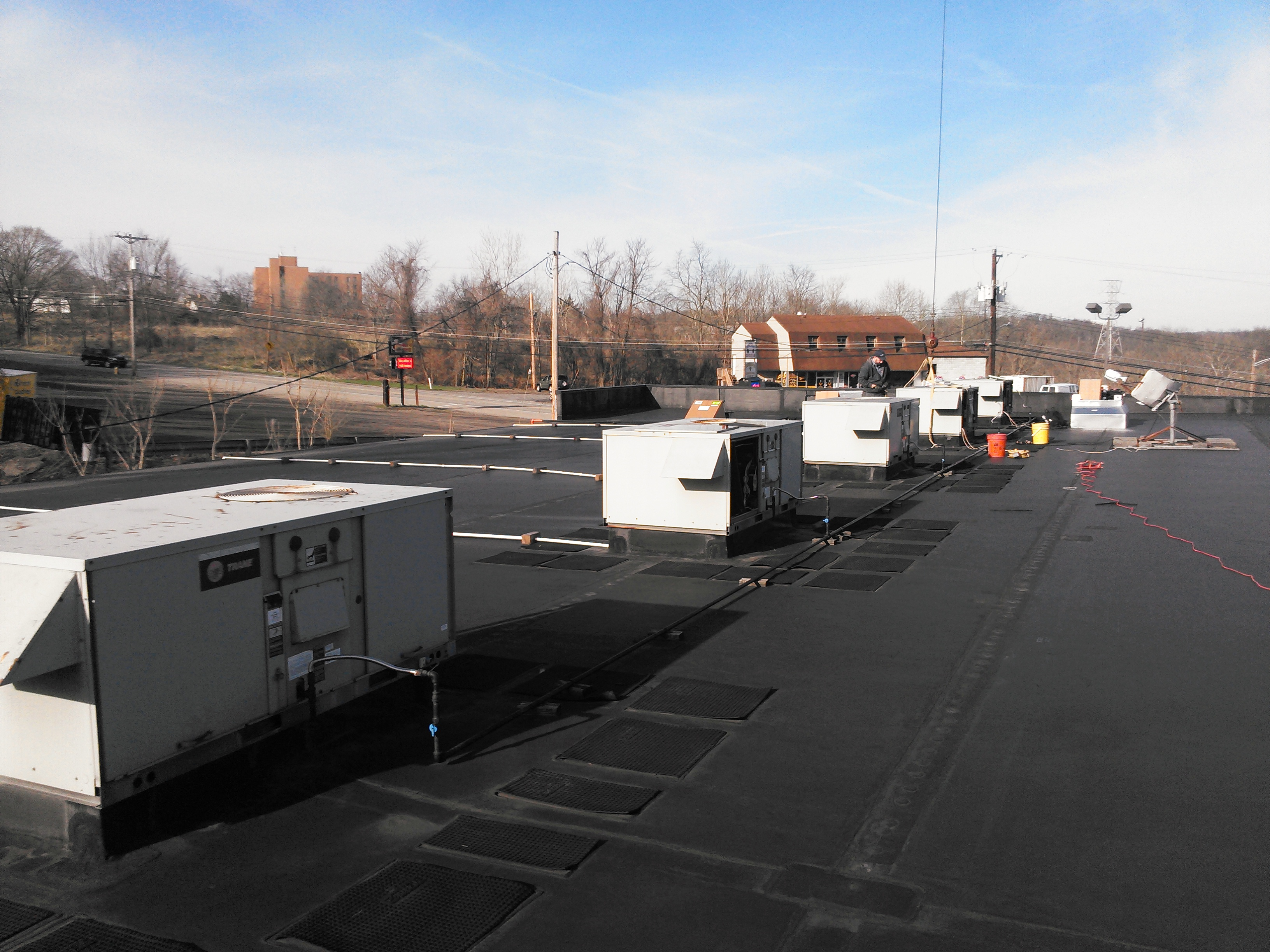 roof top hvac install
