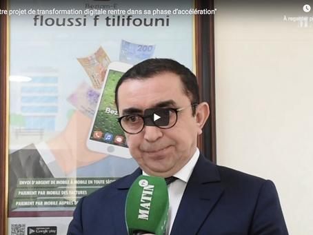 """LeMatin TV: """"CAM / Le projet de transformation digitale rentre dans sa phase d'accélération"""""""