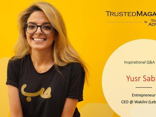 Inspirational Q&A with Yusr Sabra