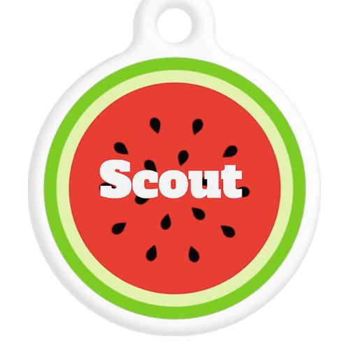 Watermelon Slice ID Tag