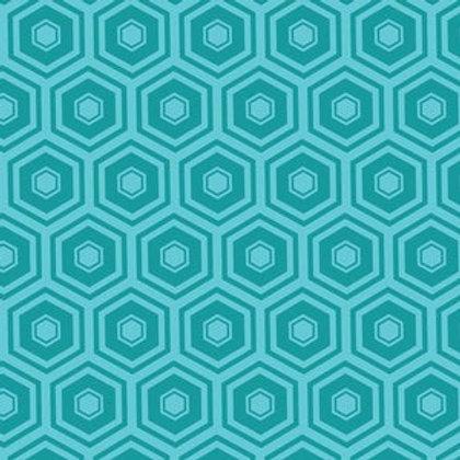 Teal Honeycomb Bandana