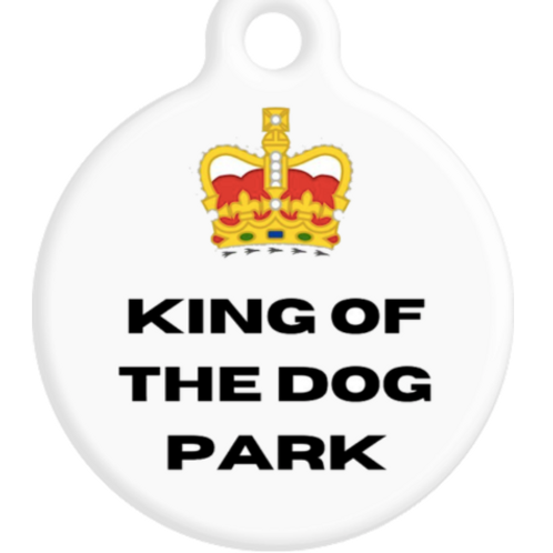 King Of The Dog Park ID Tag