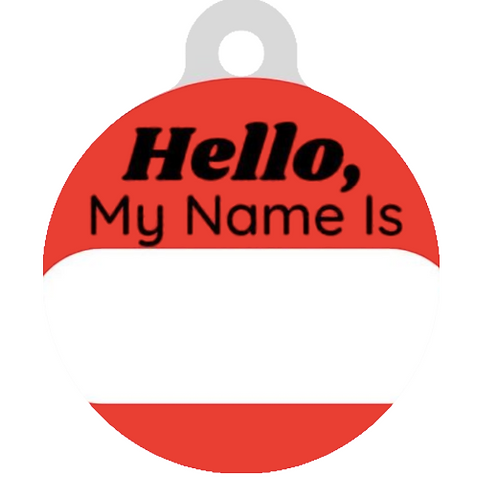 Hello, My name is Red ID Tag