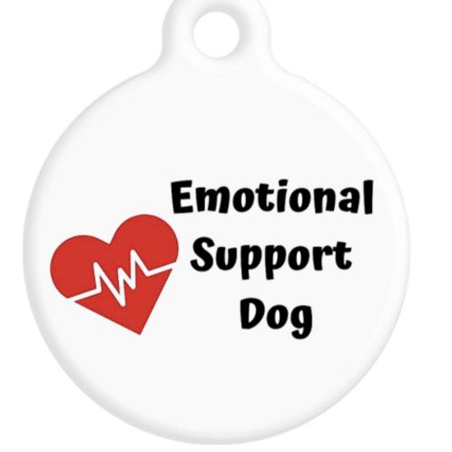 Emotional Support Dog ID Tag