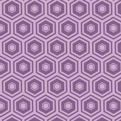 Purple Honeycomb Bandana