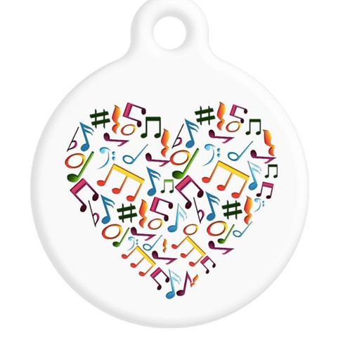Music Heart ID Tag
