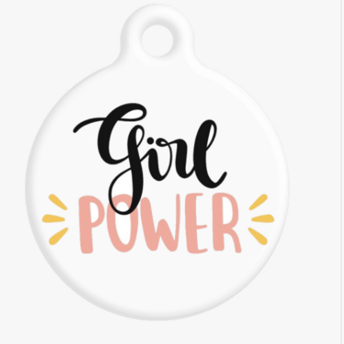 Girl Power ID Tag