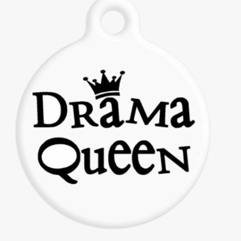 Drama Queen ID Tag