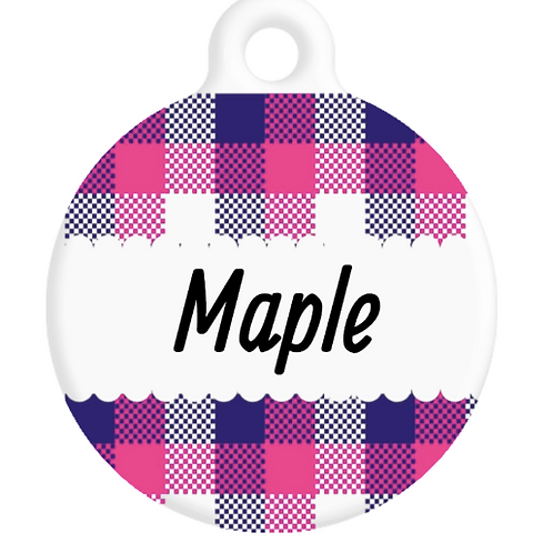 The Maple Plaid ID Tag