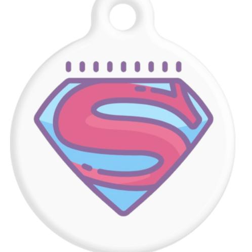 Super Girl ID Tag