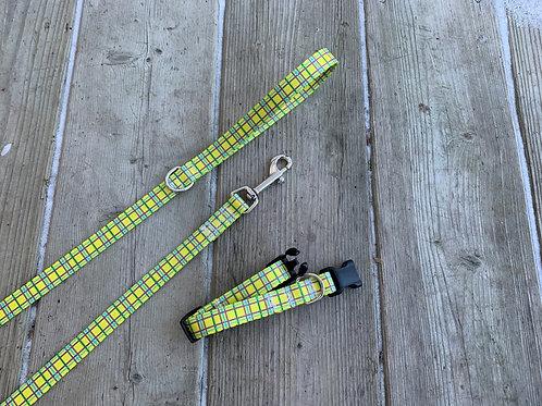 Yellow Plaid Collar