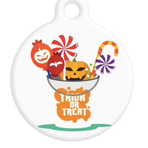 Trick Or Treat Bucket ID Tag