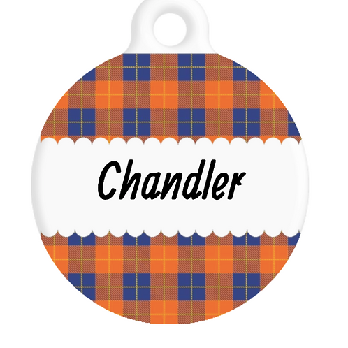 The Chandler Plaid ID Tag