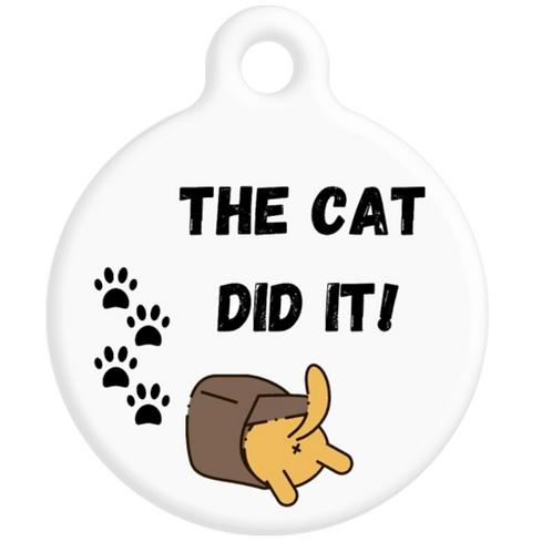 The Cat Did It ID Tag