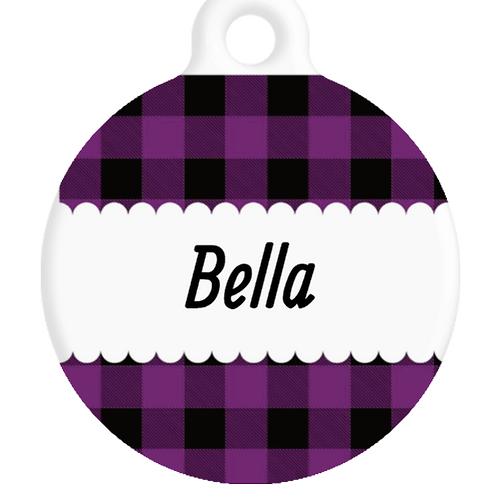 The Bella Plaid ID Tag