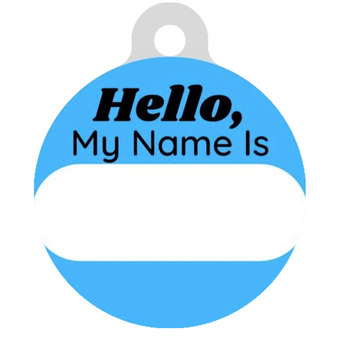 Hello, My name is Blue ID Tag