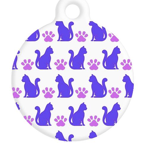 Purple Cats ID Tag
