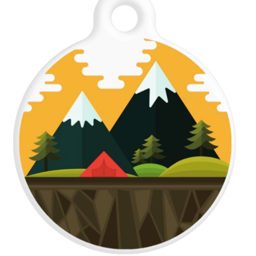 Mountains ID Tag