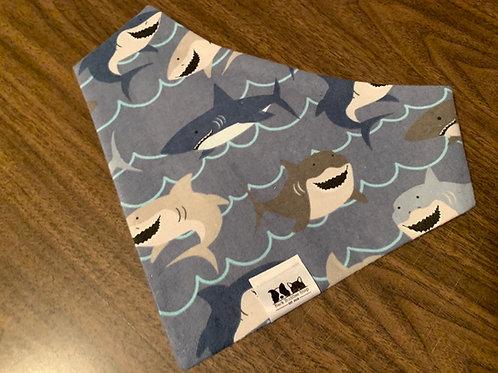 Flannel Shark Smiles Bandana