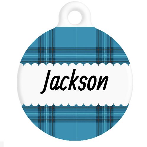 The Jackson Plaid ID Tag