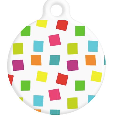 Colourful Squares ID Tag