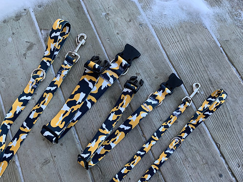 Black/Yellow Camo BBS Adjustable Collar