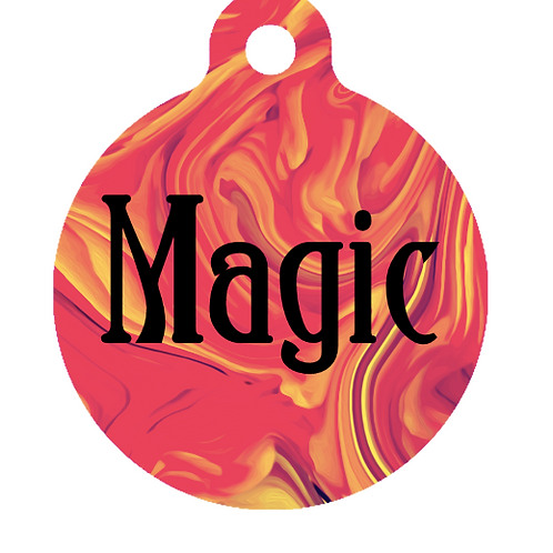 Red Marble ID Tag
