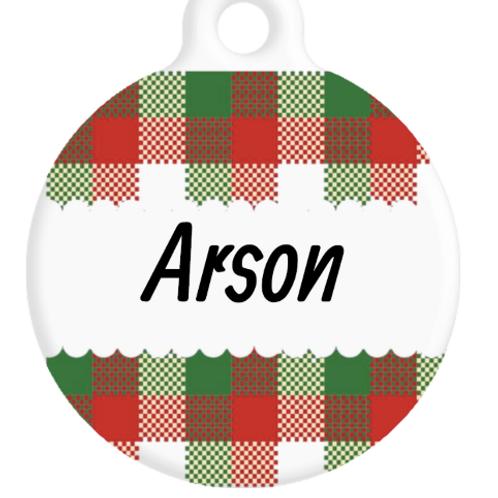 The Arson Plaid ID Tag