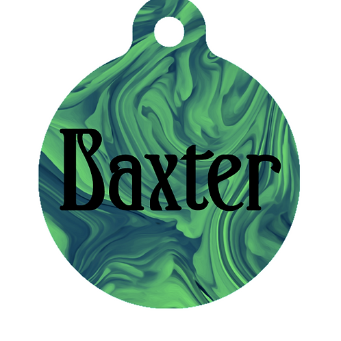 Green Marble ID Tag