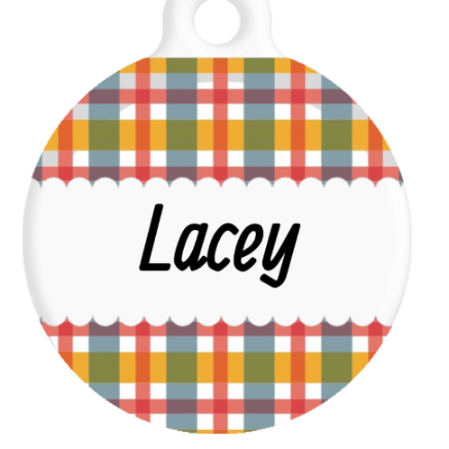 The Lacey Plaid ID Tag