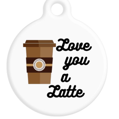 Love You A Latte ID Tag